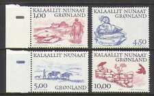 Groenlandia 2001 Sellos/Caballos/Perro/Aves 4v Set (n20165)