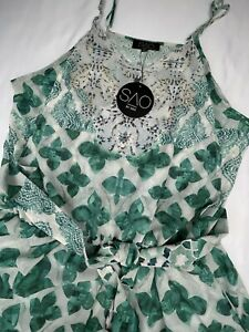 SAO By Dee Green Designer Sleeveless Embellished Belted Playsuit BNWT - 20