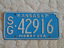 ANTIQUE 1967 KANSAS LICENSE TAG/PLATE - #42916   MIDWAY USA