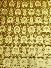 Silk Velvet with Gargrave. Old Gold.