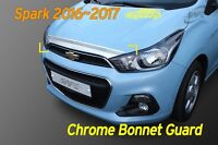 Bonnet Hood Guard Chrome Garnish Deflector Silver K867 for Chevy Spark 2016~2020