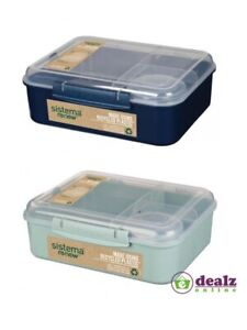Sistema Renew Bento Lunch 1.65L Microwave Plastic Container Lunch Box Yogurt Pot