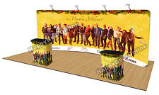Trade show waveline curve fabric pop-up booth 20 ft / Dye sublimation graphics