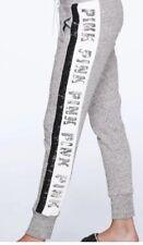 Victoria's Secret PINK Bling Skinny Jogger Pants Grey Large, NIP #VS825