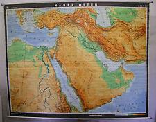 Schulwandkarte map Irak Syrien Israel Islam Iran Koran Middle East 227x181 1977