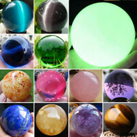 Rare Natural Quartz Crystal Ball Gemstone Sphere Minerals Rock Reiki Healing Lot