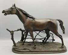 P.J. MENE CHEVAL A LA BARRIERE (DJINN) HORSE SCULPTURE NICE CAST