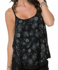 NWT WOMENS METAL MULISHA ETTA BLACK TULIP BACK TANK TOP SHIRT TEE S SMALL NEW