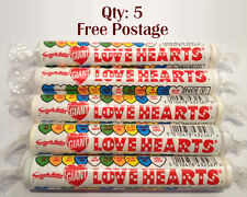 5 x UK Swizzels Matlow Giant Love Hearts Candy 39g