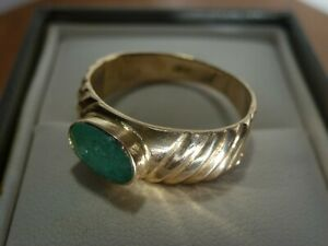 18k 18ct Gold Natural Emerald Ring. 1.50ct Size P-Q 2.98g