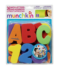 Munchkin foam letters and numbers baby children bath learning toy gift 36pcs/set