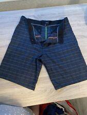 Hurley Mens shorts 33w Grey Check