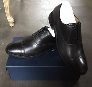 Cole Haan Black Oxford Wingtip Leather Lace Up Shoe New In Box 12 M Men's C12913