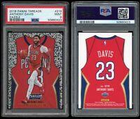 2018-19 Panini Threads Anthony Davis PSA 9 Dazzle SP #219 Statement Jersey NBA