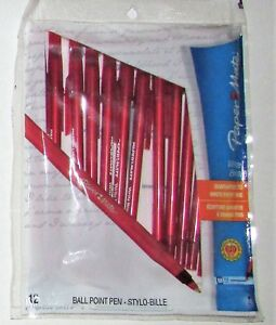 Paper Mate Ball Point Pens School Home Office Lot 4