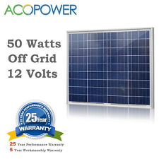 50Watts Solar Panel 50W Solar Module High Efficiency 12V for Car Boat Off Grid