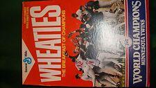 1987 World Series Champions Wheaties Box (full)  Minnesota Twins