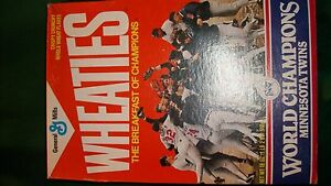 1987 World Series Champions Wheaties Box (full)  Minnesota Twins