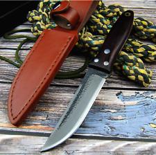 Japanese Straightback German Hand Forged Steel Pocket Knife Survival Rescue Tool