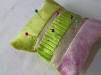 Designers Guild Velvet fabric cute Pin Cushions sewing needles