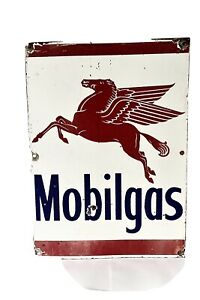 Mobilgas Enamel Sign