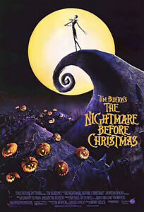 """The Nightmare Before Christmas - Movie Poster (Regular Style) (Size: 27"""" X 39"""")"""