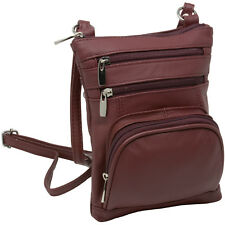 Leather Shoulder Bag Handbag Purse Cross Body Organizer Wallet Multi Pockets New