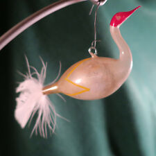 Antique German Swan Christmas Ornament Feather Tail 5 Inches long