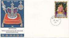 (86063) Barbuda Philart FDC Kings & Queens William II -  2 March 1970