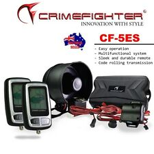 CRIMEFIGHTER CF-5 LCD Remote Keyless Entry One Way Car Alarm System Remote Start