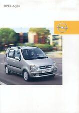 Opel Agila Prospekt 2/03 brochure 2003 Auto PKWs Autoprospekt Broschüre Deutsch