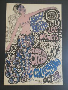 Moby Grape 1967 California Hall poster BG,FD,AOR,Grateful Dead