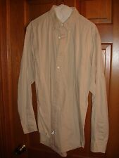 Ralph Lauren mens button down shirt size L Large LS USED WORN beige