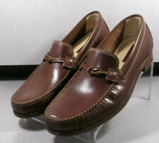 3000642 TFT50 Men's Shoes Size 9 M Brown Leather Slip On H.S. Trask