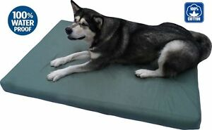 Durable Waterproof Orthopedic MEMORY FOAM  Dog Bed Pad w/ removable Canvas cover