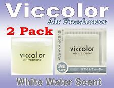 "2 Pack Diax Viccolor ""WHITE WATER"" Freshener JDM Car Home Office ,Made In JAPAN"
