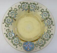 Assiette creuse verre émaillé Old enamel plate glass 19,5cm