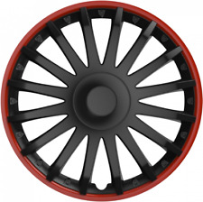 "SUZUKI JIMNY (1998 on) 15"" 15 INCH CAR VAN WHEEL TRIMS HUB CAPS RED & BLACK"