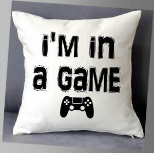 """I'M IN A GAME CUSHION COVER 16""""x16""""  GAMER CUSHION PS4 playstation"""