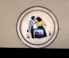 Vintage Silhouette. Reverse On Glass. Man & Woman. Round. Peter Watson Studio