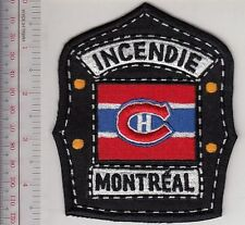 Firefighter Montreal Fire Department NHL MTL Canadien Hockey Team Helmet Shield
