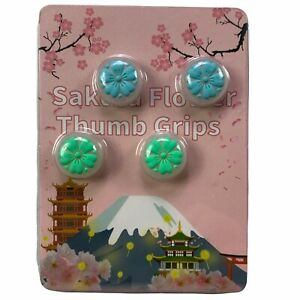 Nintendo Switch Blossom Sakura Flower Thumb Grips Joy Con Joystick Caps Clear