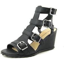 Sandalias y chanclas de mujer de tacón alto (más que 7,5 cm) de color principal negro de piel