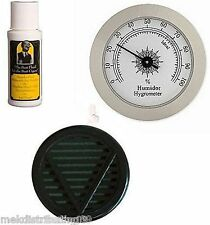 Cigar caddy Humidor Seasoning kit 2oz Solution Silver Hygrometer Humidifier