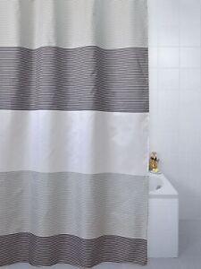 Blue Canyon Shower Curtain - Polyester - Horizon White, Grey & Black - 180cm x