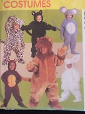 McCALLS 2936 Toddlers ANIMAL COSTUMES Cat Bunny Bear Lion Mouse PATTERN 1/2-4 UC
