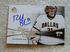 Dallas Stars Richard Bachman 11/12 SP Authentic Sign of the Times Auto Card