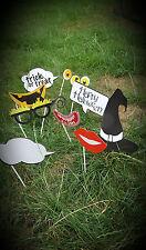 10 Photo Booth Materiale Di Scena scena Halloween Decorazione party fun dress up SELFIE Bastoncini
