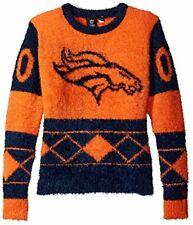FOCO NFL Women's Denver Broncos Eyelash Ugly Sweater