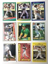 Jose Canseco Baseball Cards Lot of 9 Oakland Athletics Topps Rookie